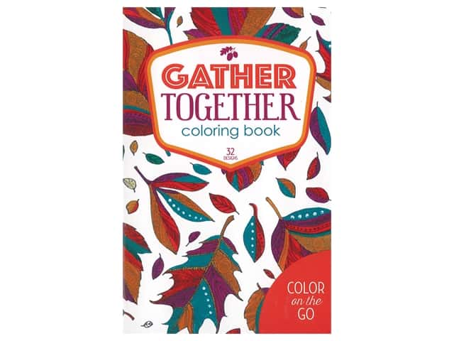 Leisure Arts Color On The Go Gather Together Coloring Book