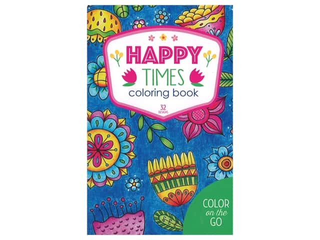 Leisure Arts Color On The Go Happy Times Coloring Book