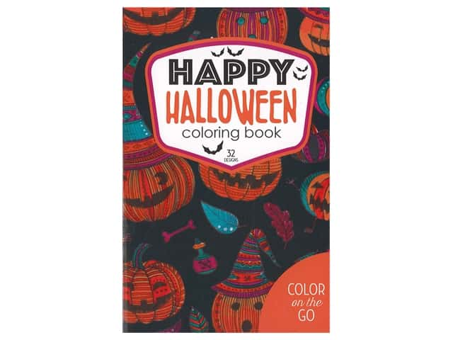 Leisure Arts Color On The Go Happy Halloween Coloring Book