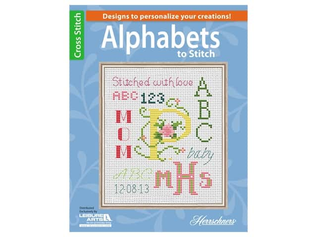 Leisure Arts Alphabets To Stitch Book