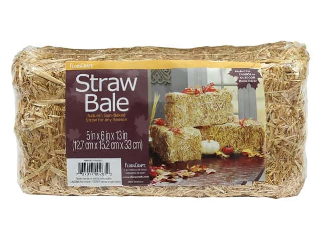 FloraCraft Straw Bale 13 in. x 6 in. x 5 in. Package