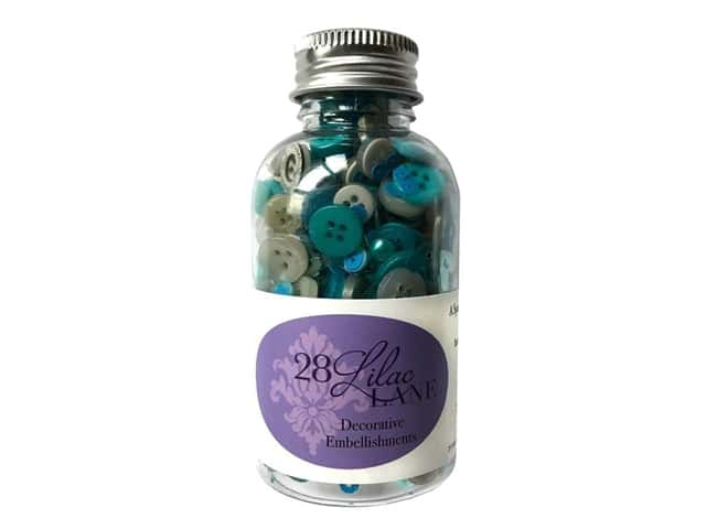 Buttons Galore 28 Lilac Lane Embellishment Bottle Mermaid Lagoon