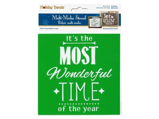Multicraft Craft Decor Stencil 6 in. x 6 in. Holiday Its The Most