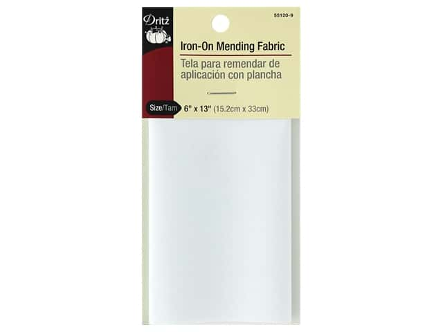 Dritz Iron-On Mending Fabric 6 x 13 in. White