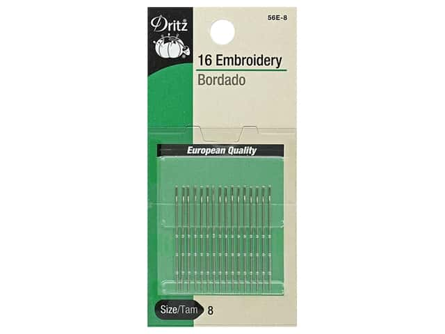 Dritz Embroidery Needles Size 8 16 pc.