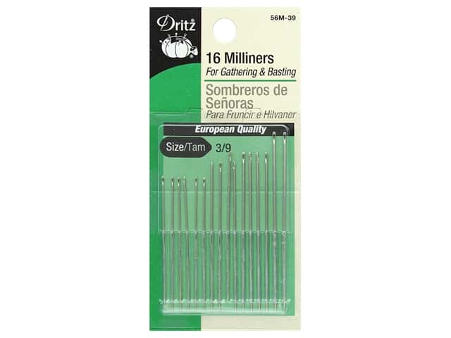 Dritz Milliners Needles Size 3/9 16 pc.