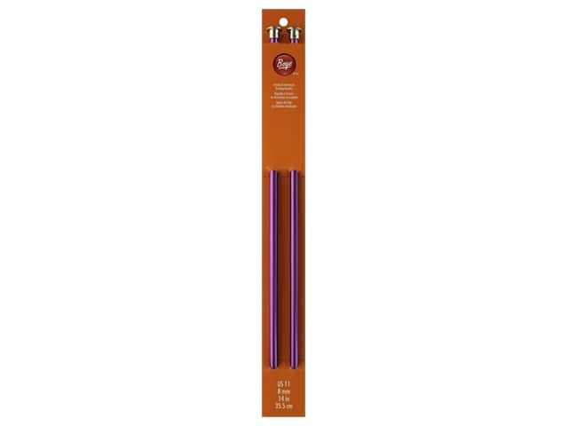 Boye Single Point Knitting Needles Aluminum 14 in. Size 11 (8 mm)