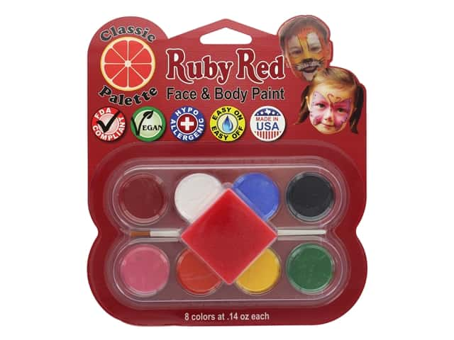 Ruby Red Face & Body Paint Kit Classic Palette