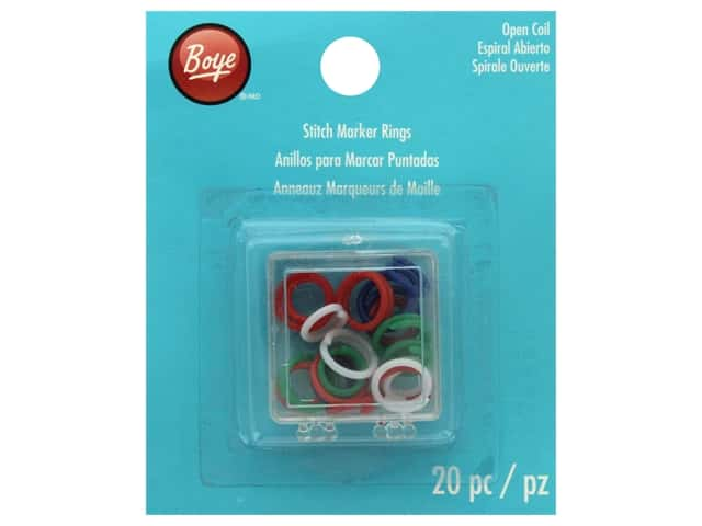 Boye Stitch Marker 20 pc. Open Coil Rings