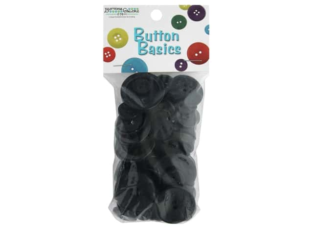 Buttons Galore Button Candy Bags 3 oz. Black