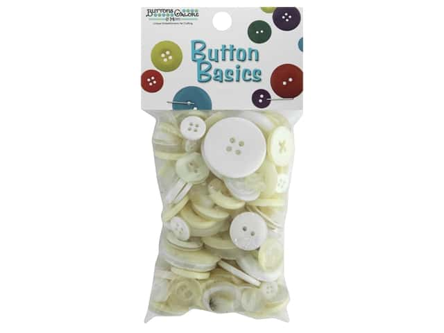 Buttons Galore Button Candy Bags 3 oz. White