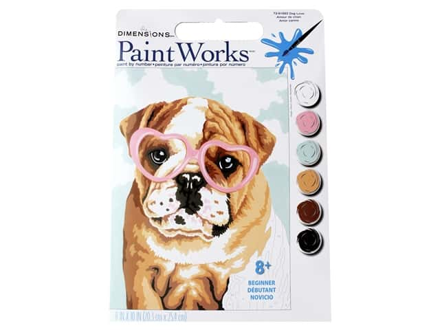 Paintworks Paint By Number Kit 8 x 10 in. Dog Love