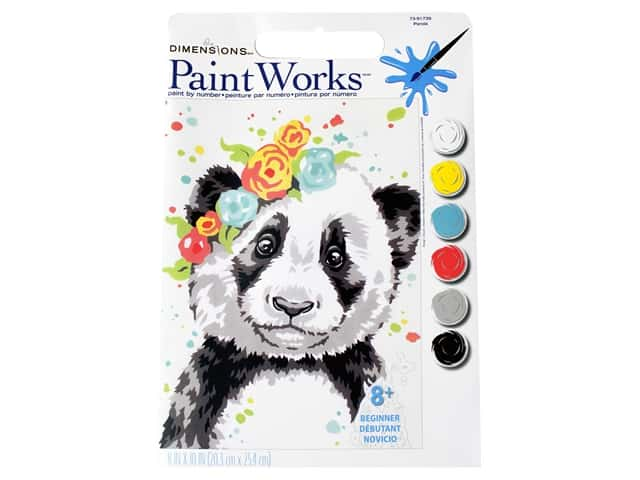 Paint Works Paint By Number Kit 8 x 10 in. Panda