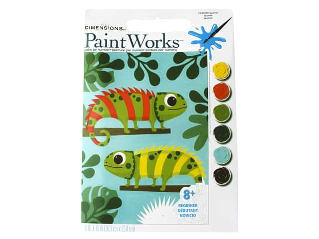 Paint Works Paint By Number Kit 8 x 10 in. Iguanas