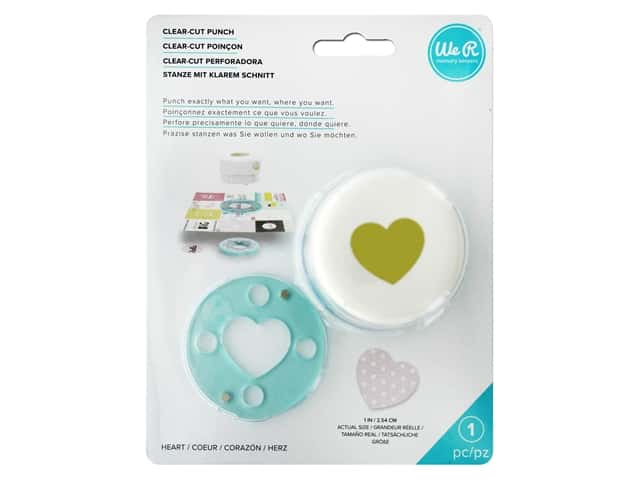 We R Memory Keepers Clear Cut Punch 1 in. Heart