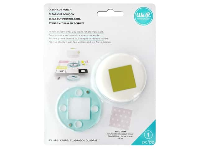 We R Memory Keepers Clear Cut Punch 1 in. Square