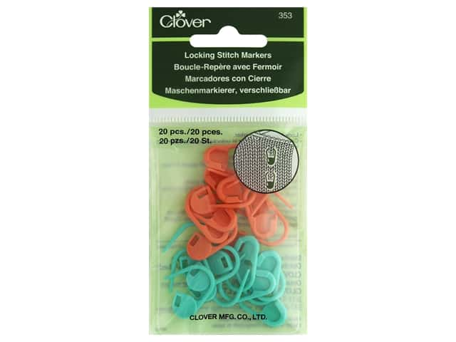 Clover Locking Stitch Markers 20 pc.