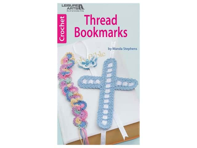 Leisure Arts Thread Bookmarks Crochet Book