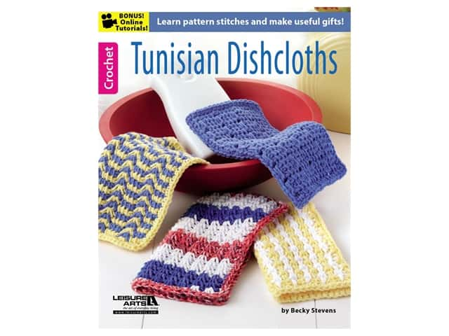 Leisure Arts Tunisian Dishcloths Crochet Book