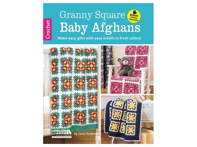 Leisure Arts Granny Square Baby Afghans Crochet Book