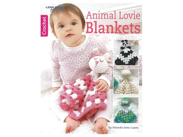 Leisure Arts Animal Lovie Blankets Book