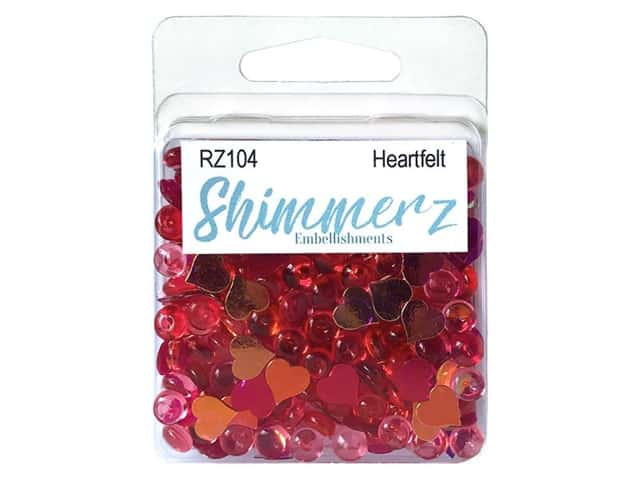 Buttons Galore Shimmerz - Heartfelt