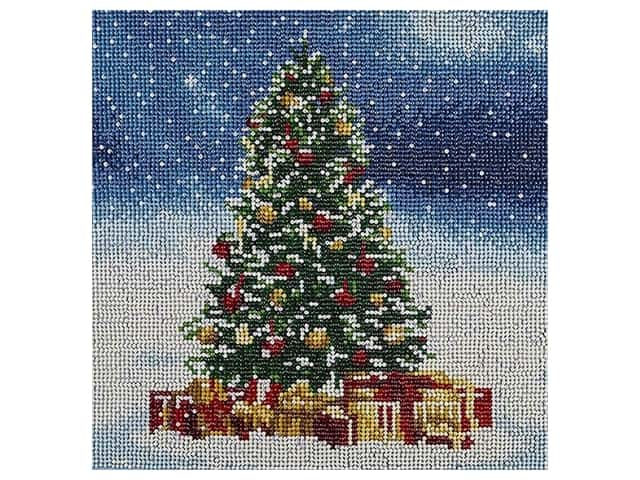 Diamond Art Kit 12 in. x 12 in. Full Drill Holiday Christmas Tree
