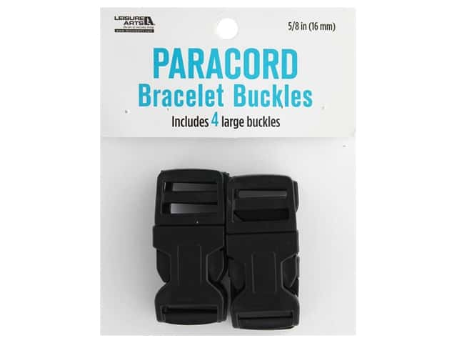 Leisure Arts Paracord Bracelet Buckles 4 pc. Large Black