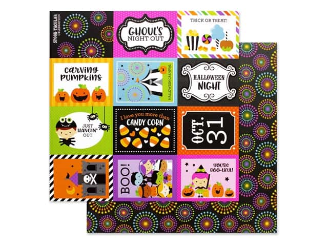 Doodlebug 12 x 12 in. Paper Candy Carnival Spook-tacular