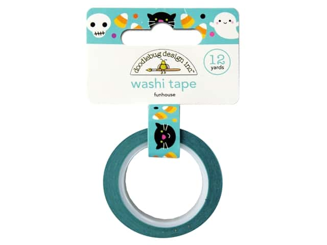 Doodlebug Washi Tape 5/8 in. x 12 yd. Candy Carnival Funhouse