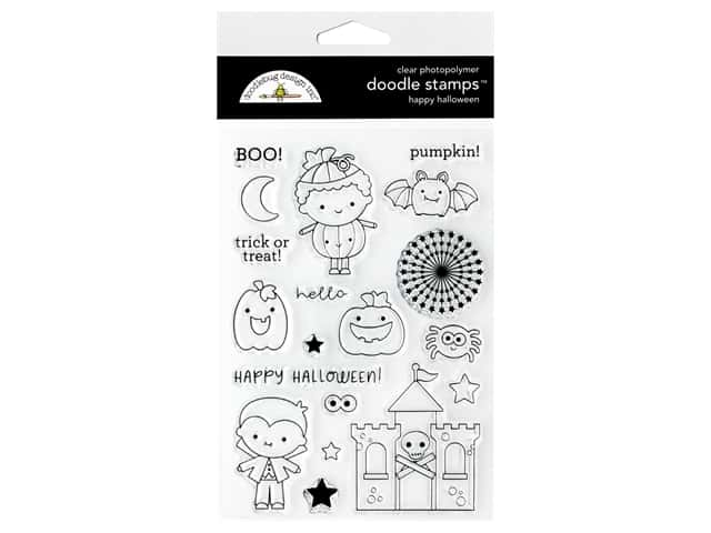 Doodlebug Doodle Stamps Candy Carnival Happy Halloween