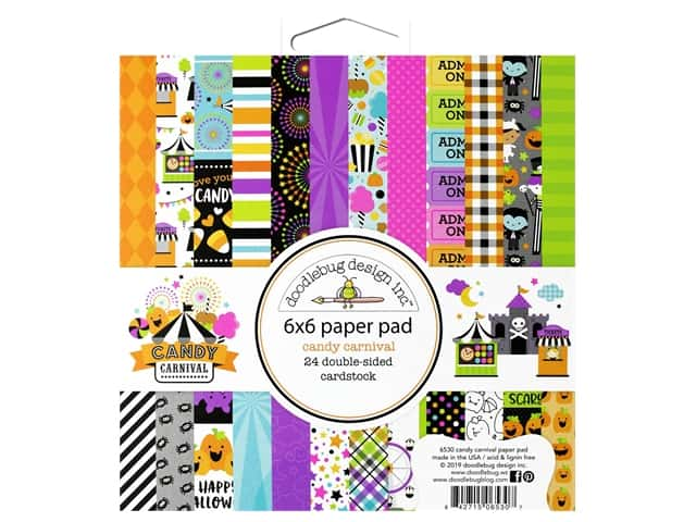 Doodlebug 6 x 6 in. Paper Pad Candy Carnival