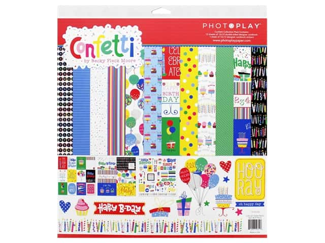 Photo Play 12 x 12 in. Collection Pack Confetti