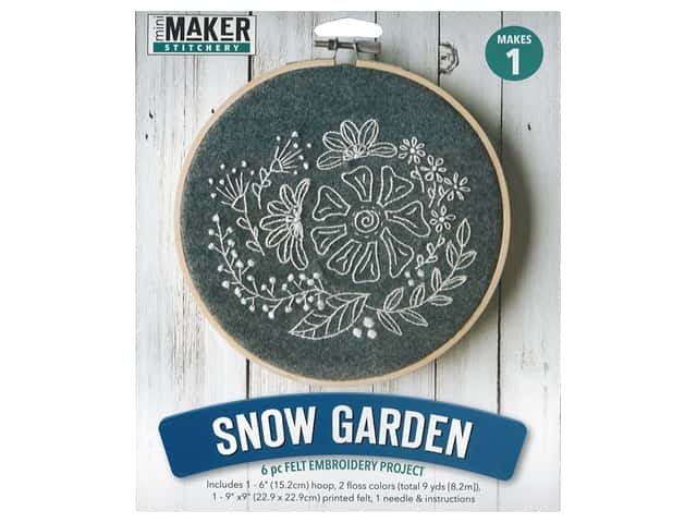 Leisure Arts Kit Mini Maker Felt Embroidery Snow Garden