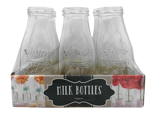 Leisure Arts Milk Bottle 6.25 in. 6 pack