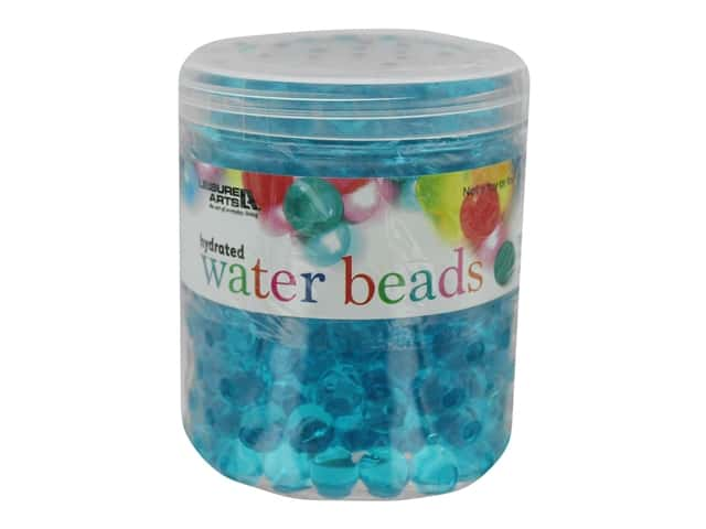Leisure Arts Hydrated Water Beads Jar 16 oz Teal