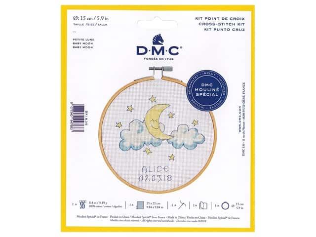 DMC Counted Cross Stitch Kit Baby Moon