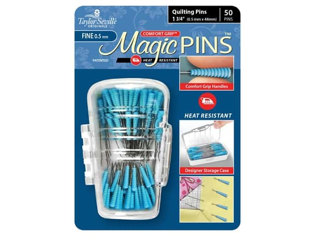Taylor Seville Magic Pins 1 3/4 in. Fine Quilting 50 pc