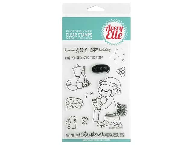 Avery Elle Clear Stamp Santa Bear