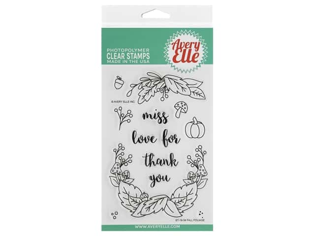 Avery Elle Clear Stamp Fall Foliage