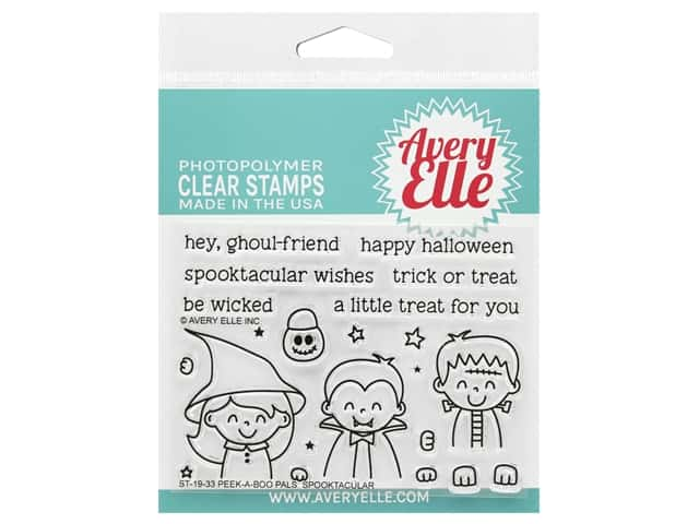 Avery Elle Clear Stamp Peek A Boo Pals Spooktaculr