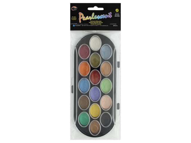 Yasutomo Niji Watercolor Set Pearlescent Pan 16 pc