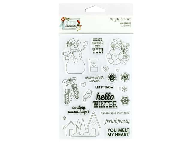 """Simple Stories Collection Winter Farmhouse Stamp 4""""x 6"""""""