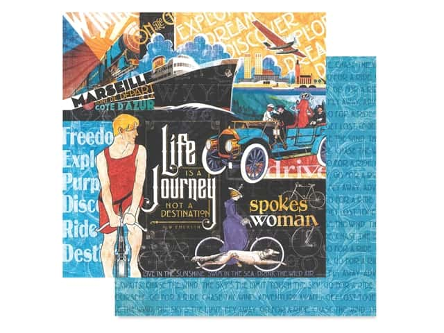 Graphic 45 Collection Lifes A Journey Paper 12 in. x 12 in. Life's A Journey