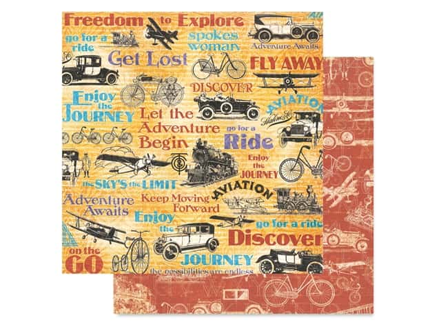 Graphic 45 Collection Lifes A Journey Paper 12 in. x 12 in. Fly Away
