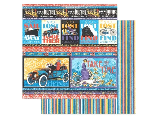 Graphic 45 Collection Lifes A Journey Paper 12 in. x 12 in. Get Lost