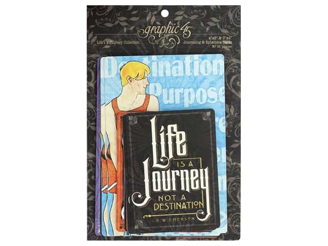Graphic 45 Collection Lifes A Journey Ephemera Cards