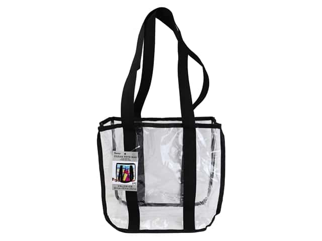 Darice Tote Bag 12 in. x 12 in. Black/Clear