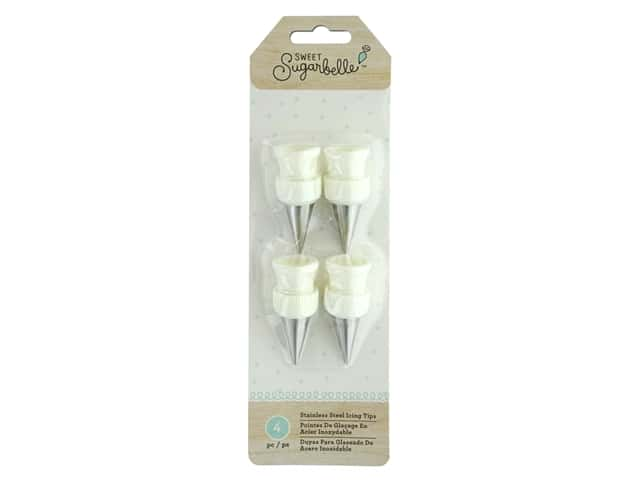 American Crafts Sweet Sugarbelle Stainless Steel Icing Tips 4 pc.