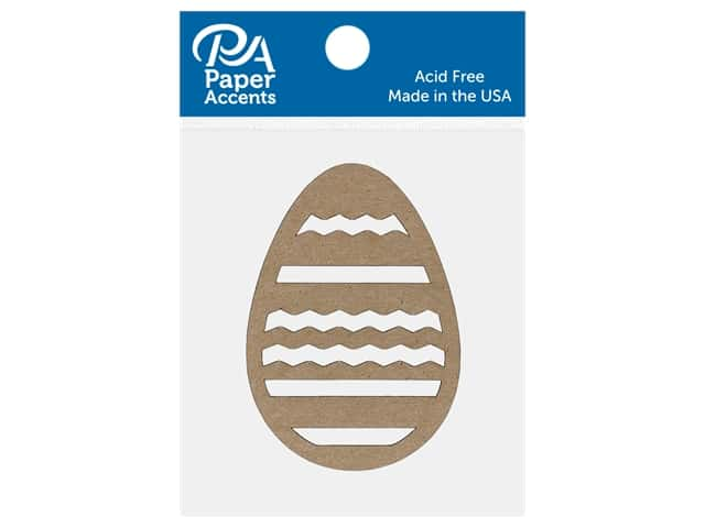 Paper Accents Chip Shape Egg Zigzag Natural 8 pc